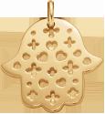 Main de Fatima ajourée 2 cm plaqué or
