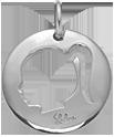 Médaille ajourée fille 2 cm argent