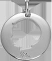 Médaille ajourée garçon 2 cm argent