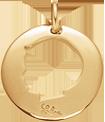 Médaille ajourée garçon 2 cm plaqué or
