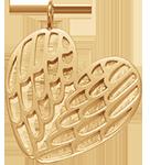 Les Ailes ajourées 2,5 cm plaqué or