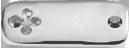 Plaque rectangulaire avec trèfle argent 925 2,5 cm