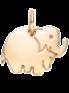 Eléphant en Plaqué or 1 cm