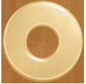Cible 2,7 cm plaqué-or