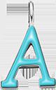 Pendentif Sens 1 cm, A, émail turquoise, plaqué argent