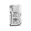 Lettre B plaqué argent