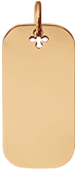Médaille 3 cm, plaqué or