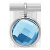 Pendentif avec quartz bleu, plaqué argent, 1 cm