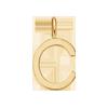 Lettre C plaqué or