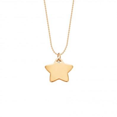 Collier avec étoile plaquée or sur une chaîne fine classique