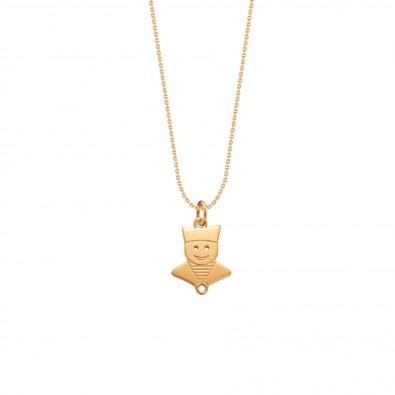 Collier avec un marin plaqué or sur une chaîne fine classique