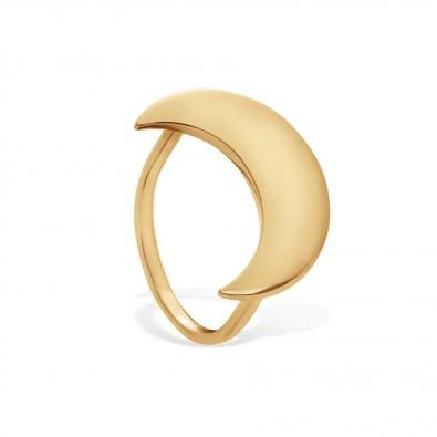 Bague Lune plaquée or