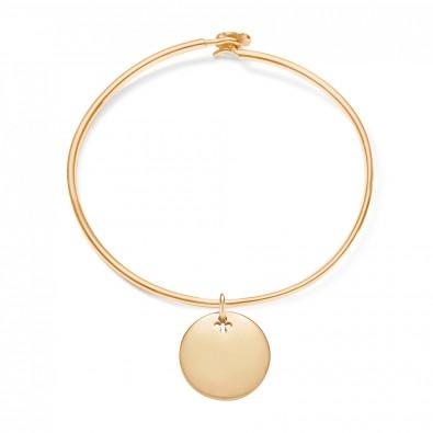 Bracelet Penelope avec médaillon plaqué or