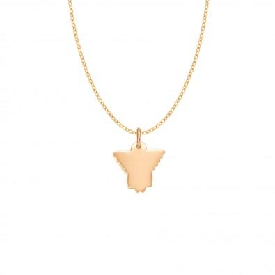 Collier avec angelot plaqué or sur une chaîne fine classique