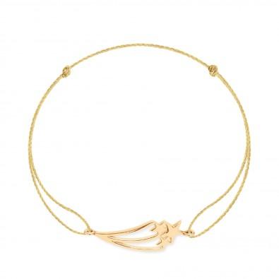 Bracelet avec une Constellation plaquée or sur un cordon doré épais premium