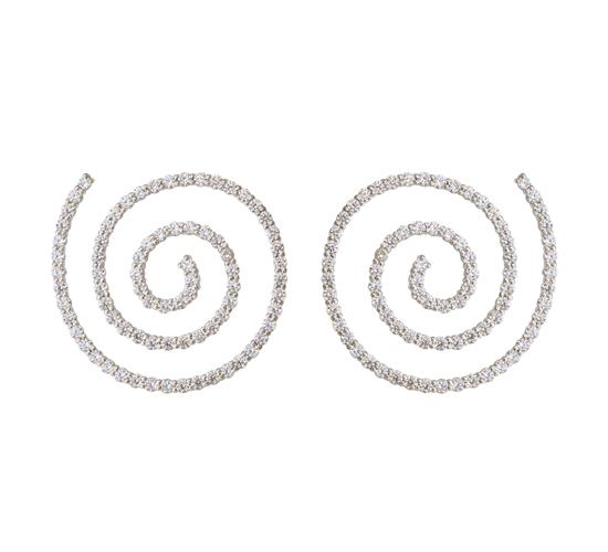 Boucles d'oreilles Spirale, argent