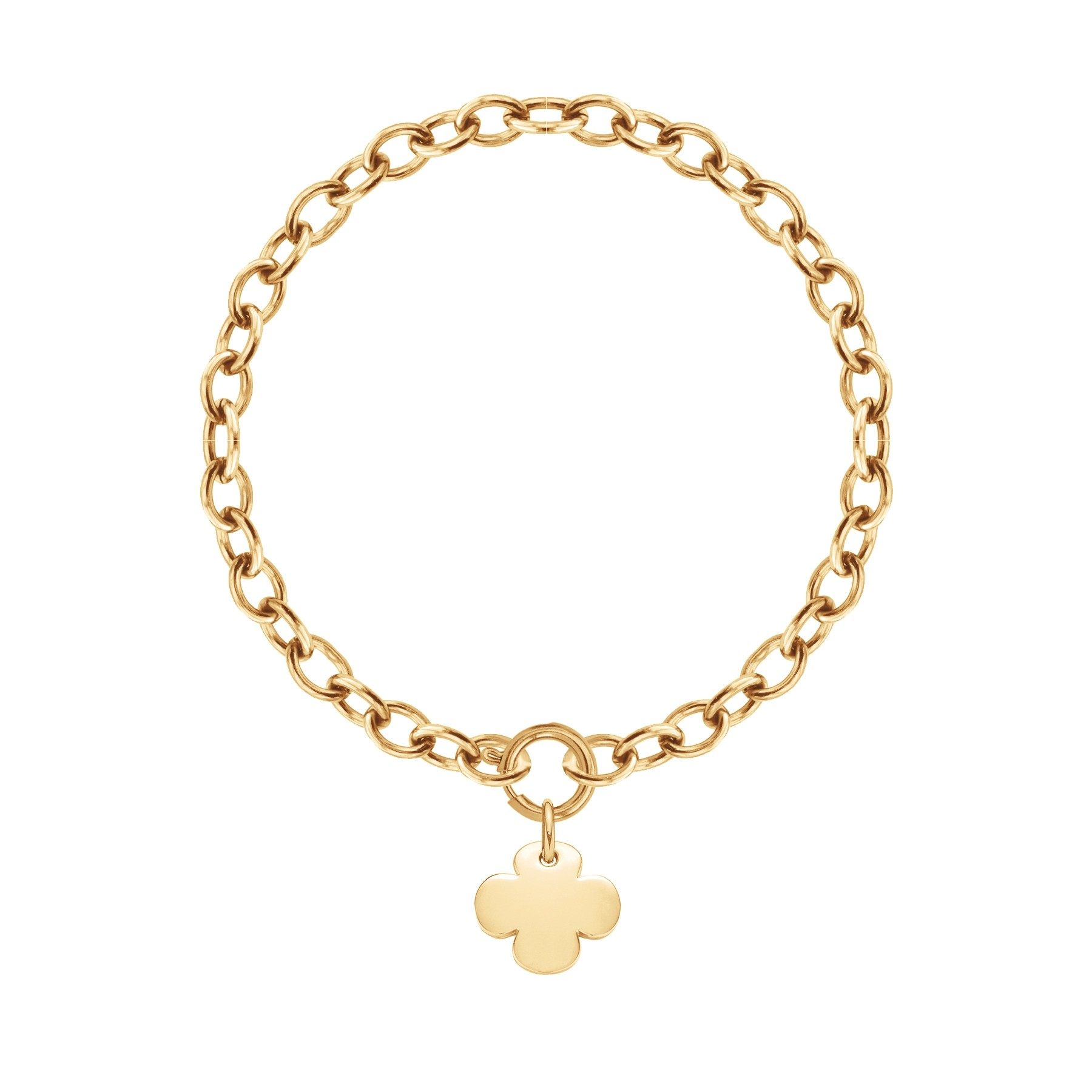 Bracelet chaîne No.1 avec trèfle rond