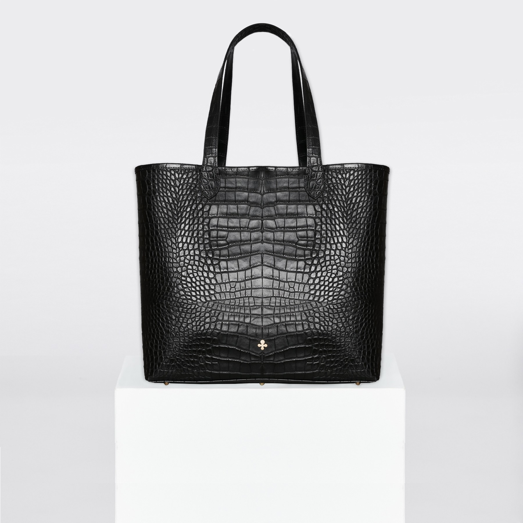 Sac shopper, crocodile noir