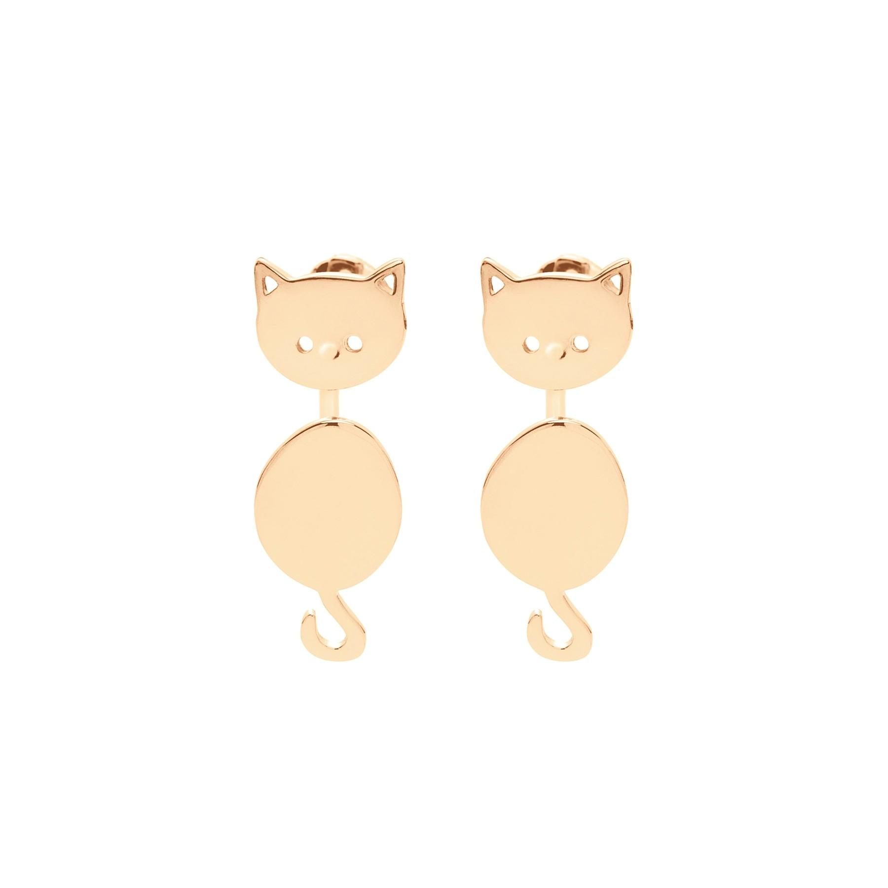 Boucles d'oreilles Minou plaquées or