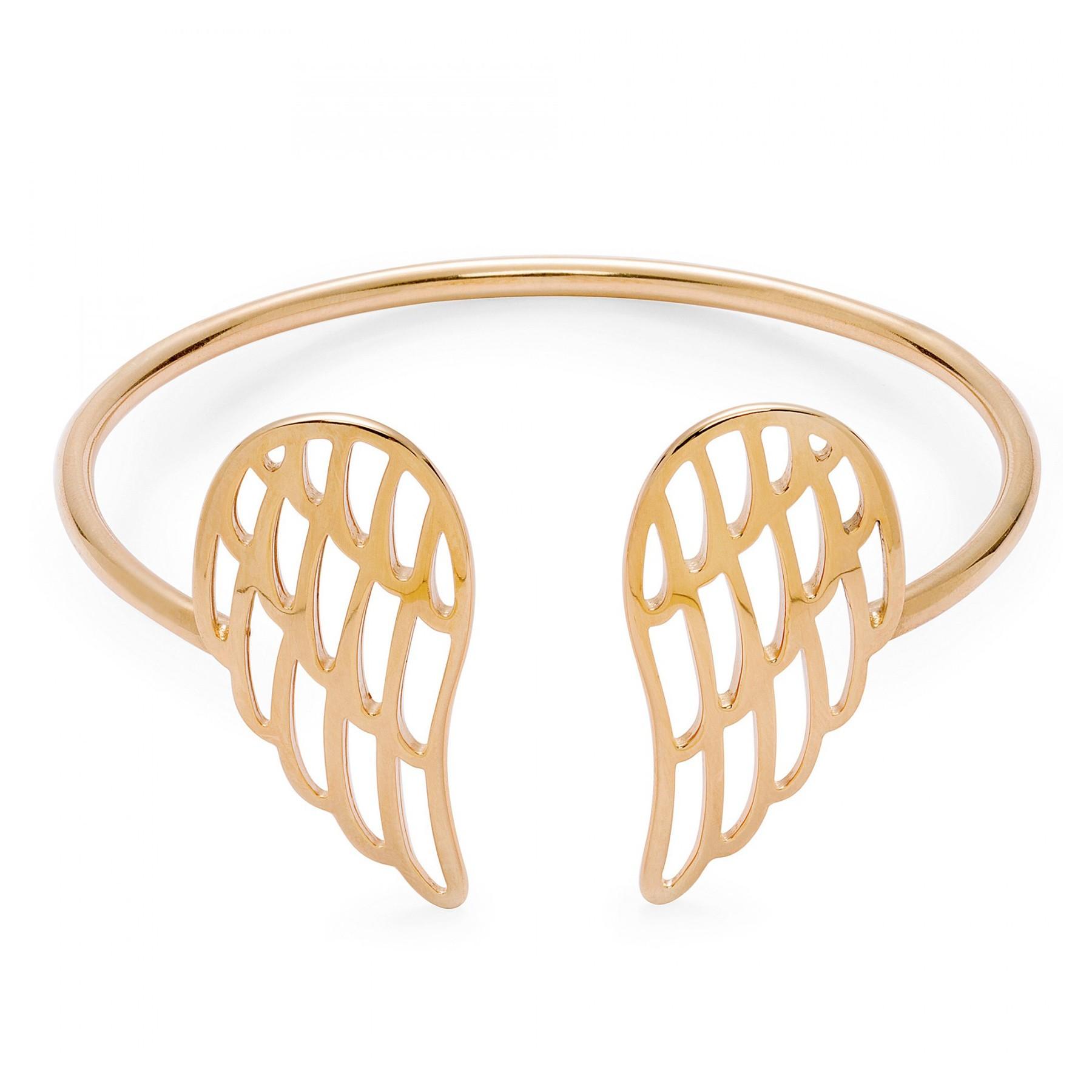 Bracelet avec les Ailes ajourées plaqué or