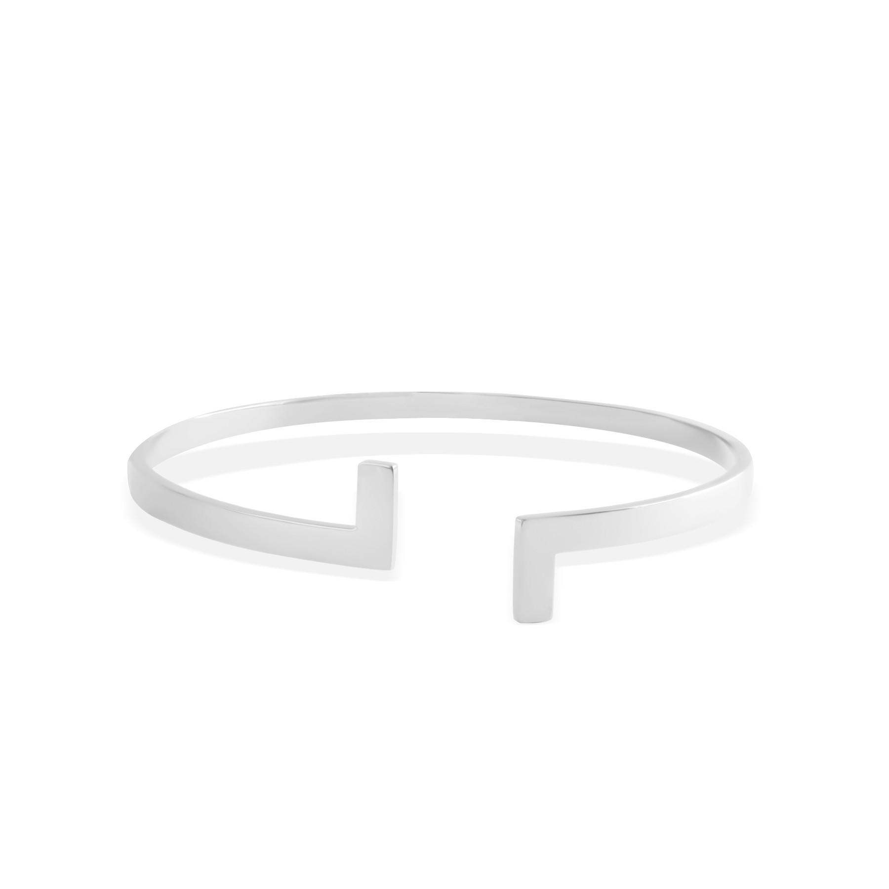 Bracelet Cross, plaqué argent