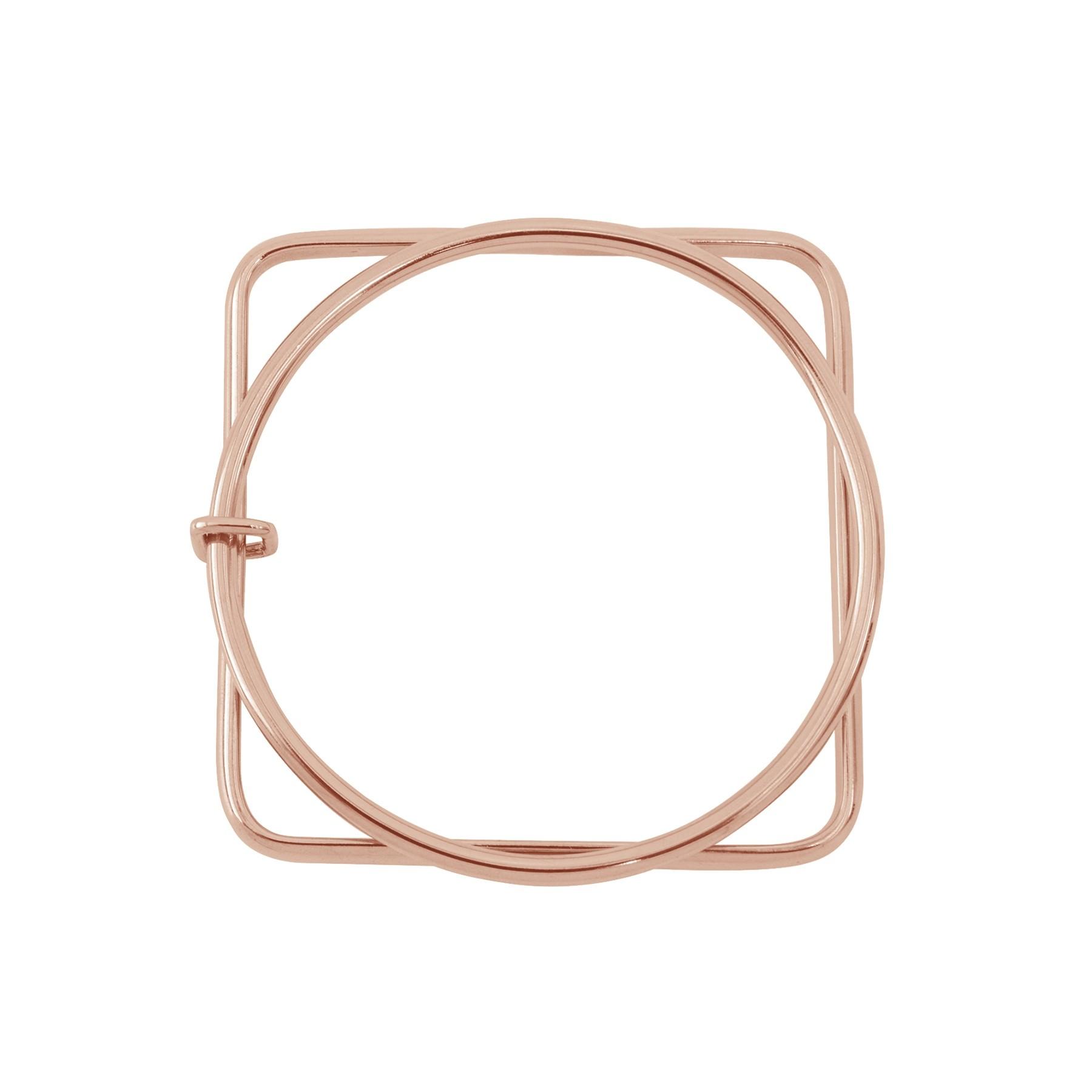 Bracelet California, rose plaqué or