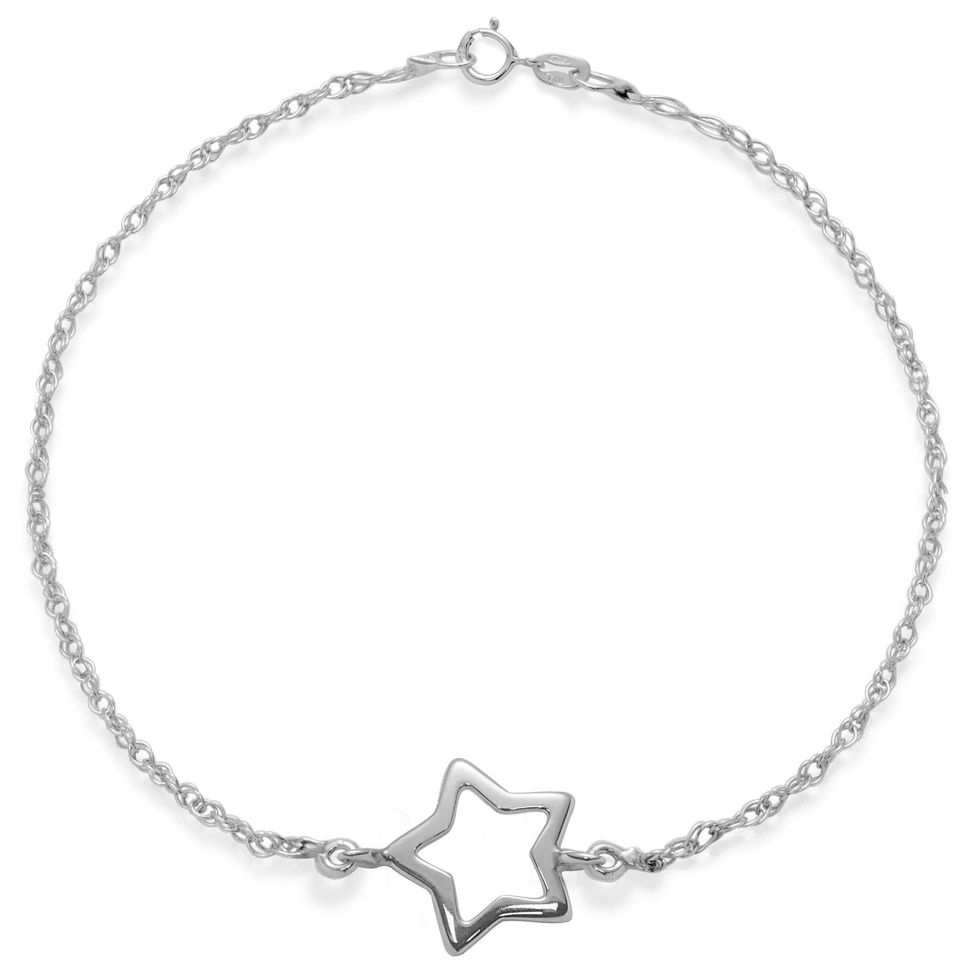 Bracelet chaîne Étoile en argent