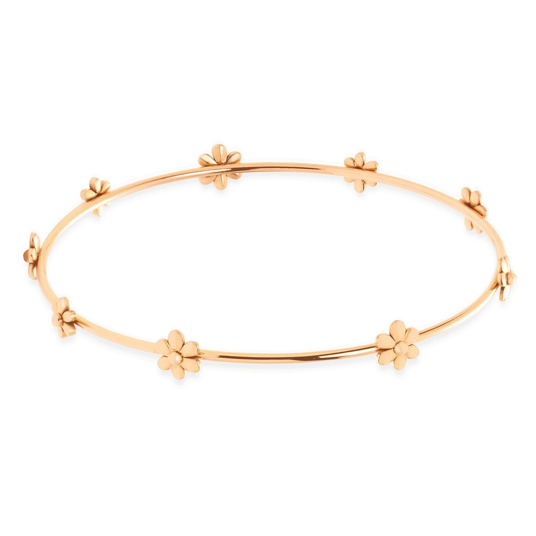 Bracelet Flowers plaqué or