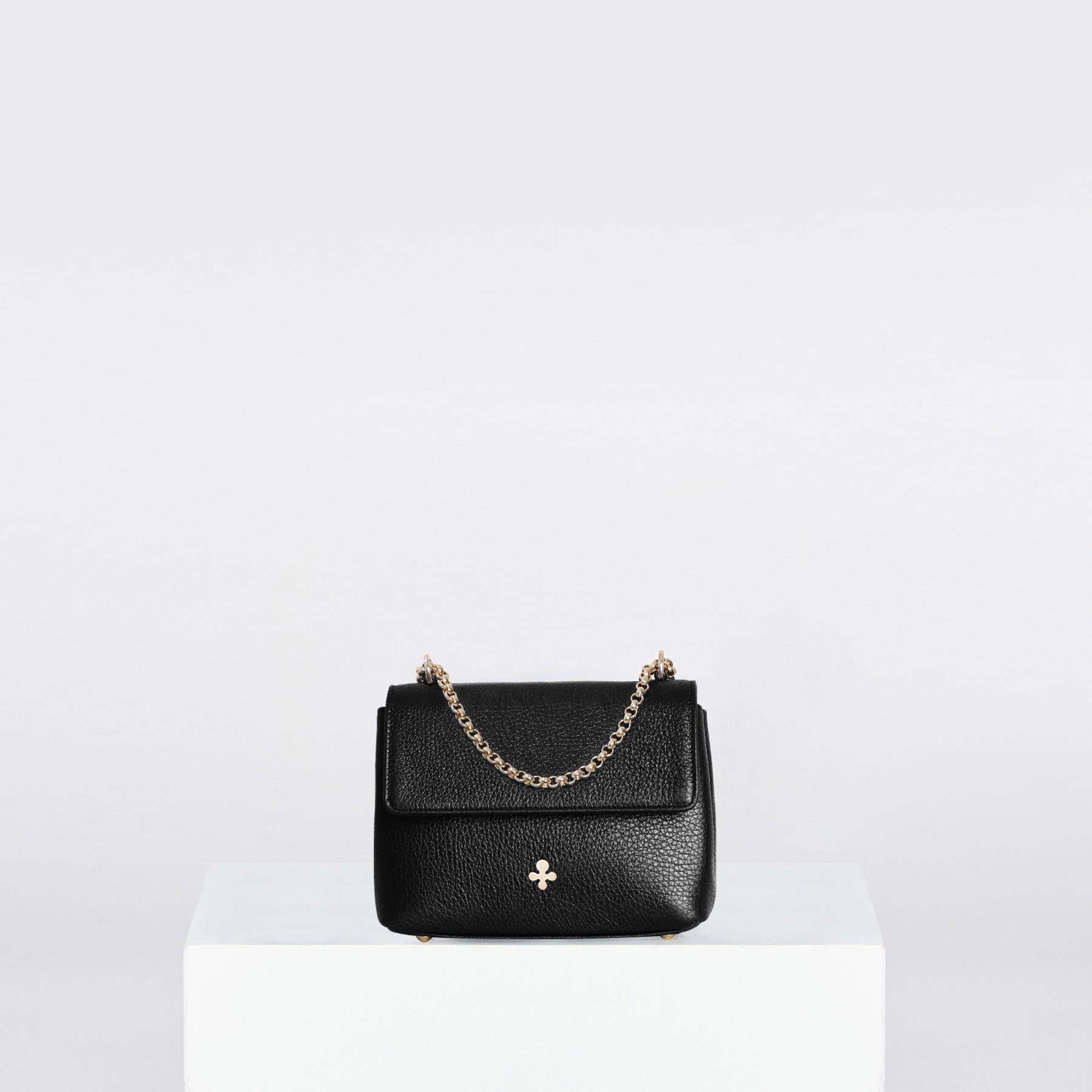 Mini sac ZOE, noir métallique