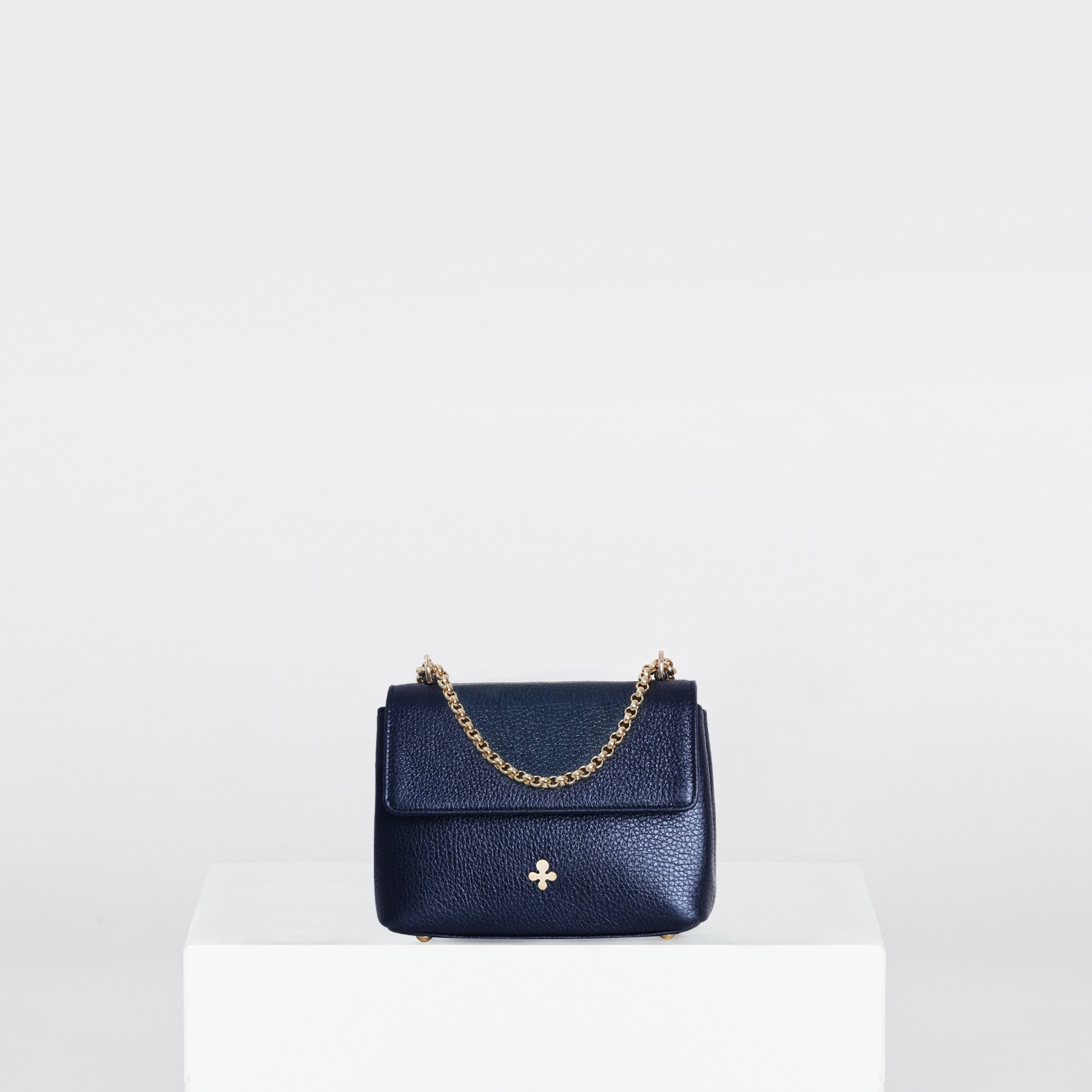 Mini sac ZOE, bleu métallique