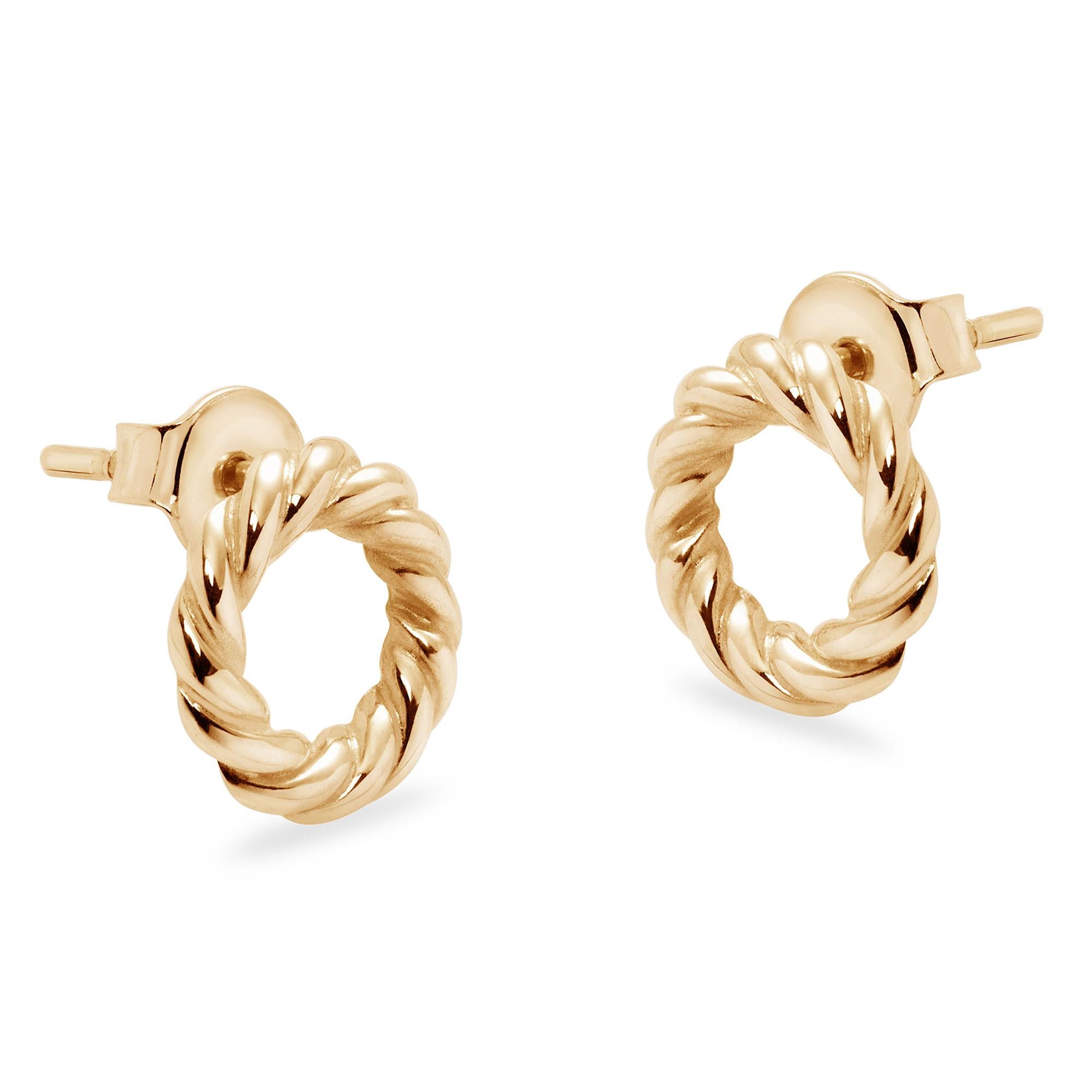 Boucles d'oreilles Ines en plaqué or