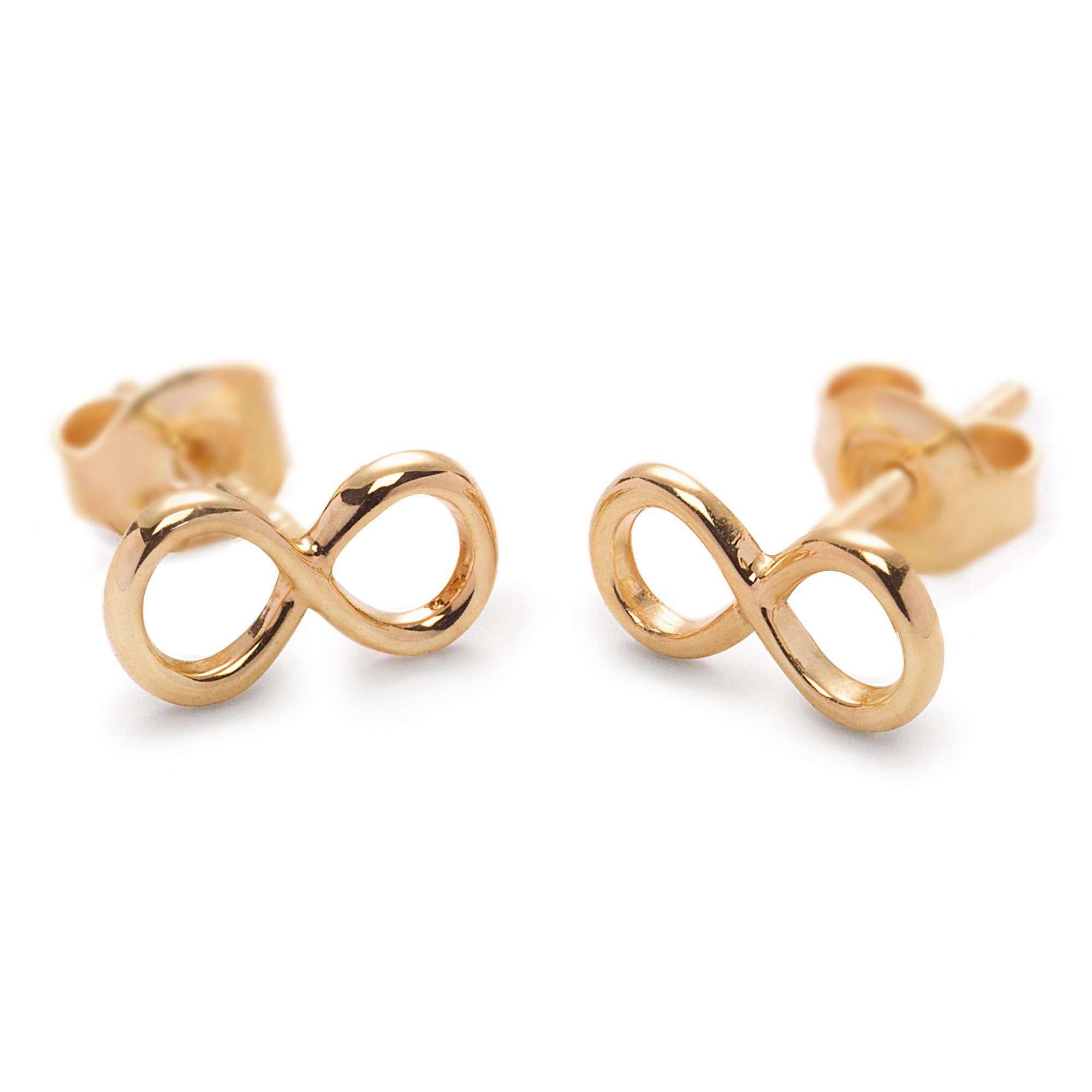 Boucles d'oreilles signe de l'infini en or585