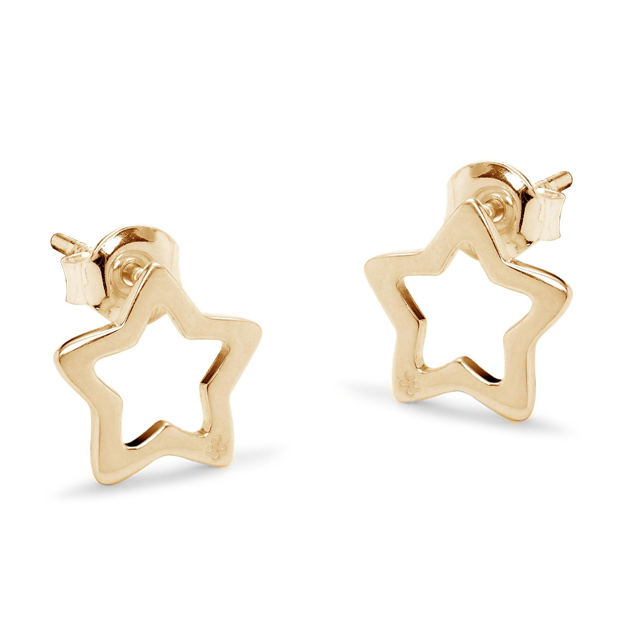 Boucles d'oreilles étoile ajourées en plaqué or