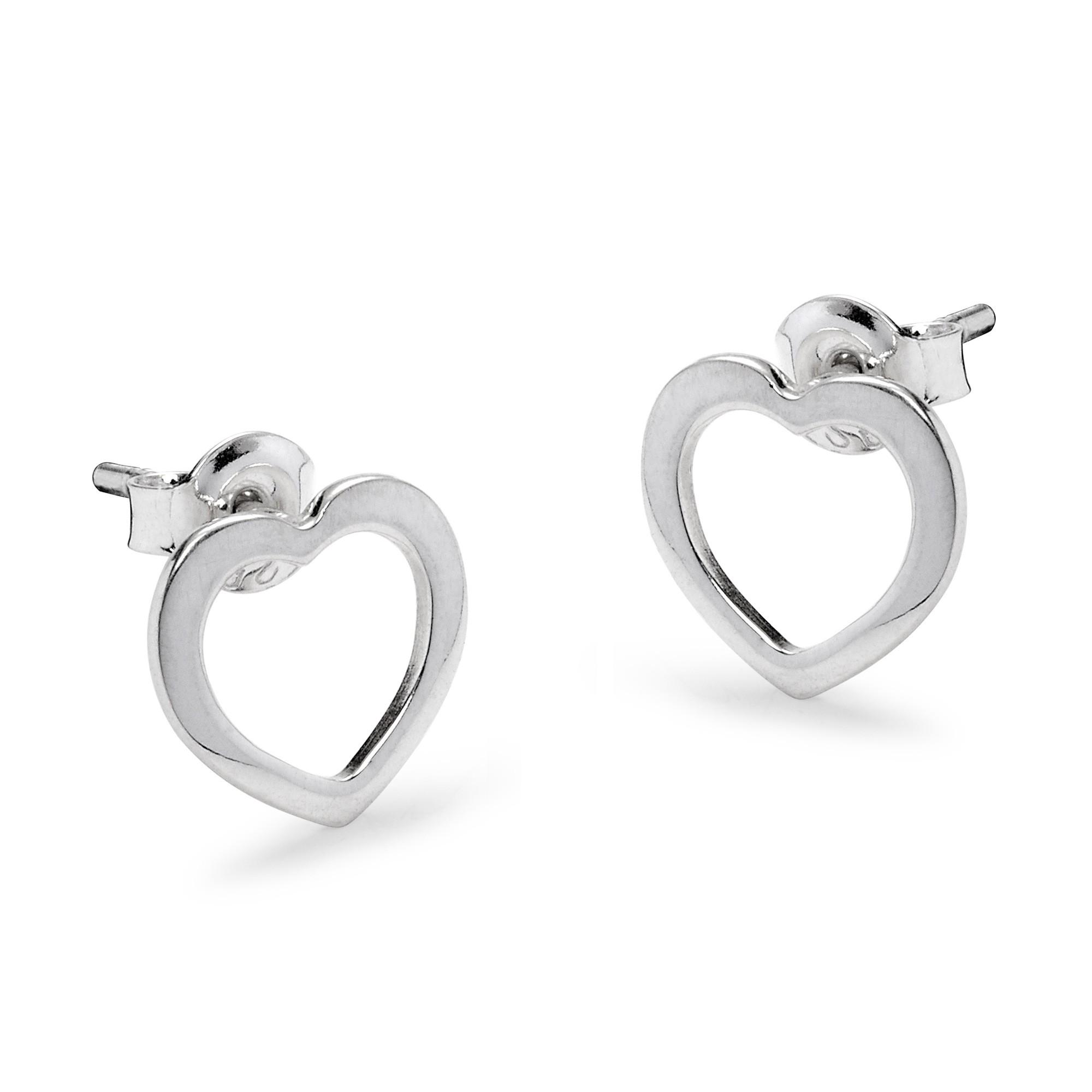 Boucles d'oreilles cœur ajourées en argent