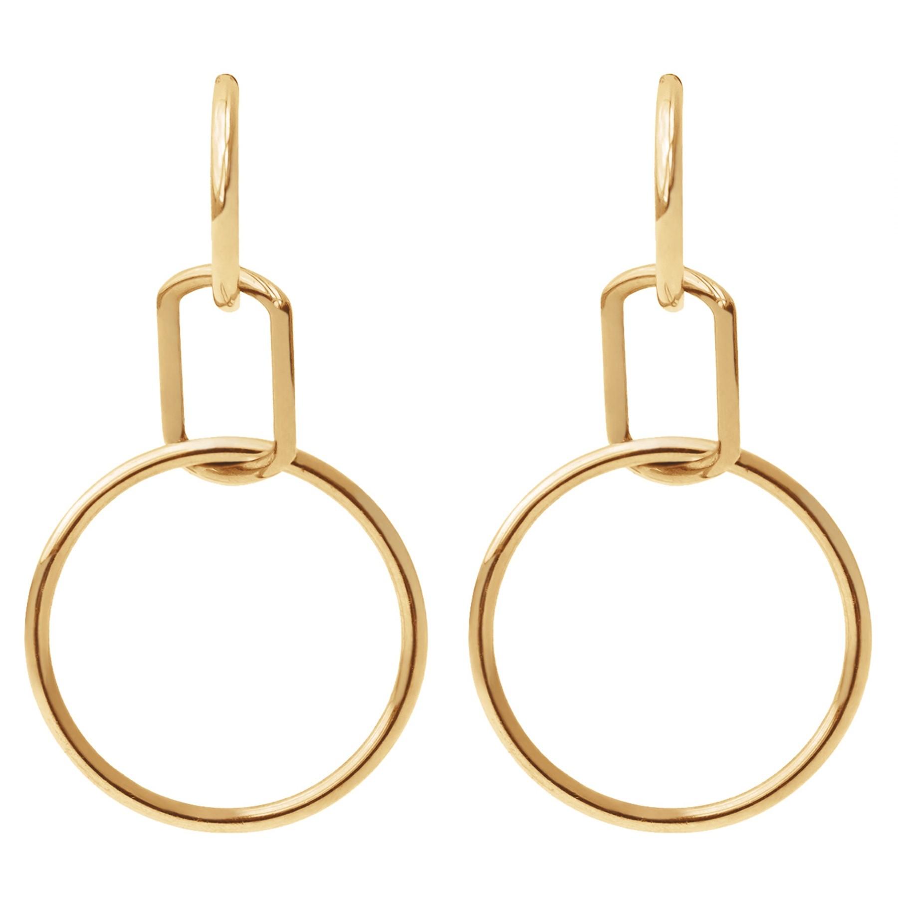 Boucles d'oreilles California, plaqué or