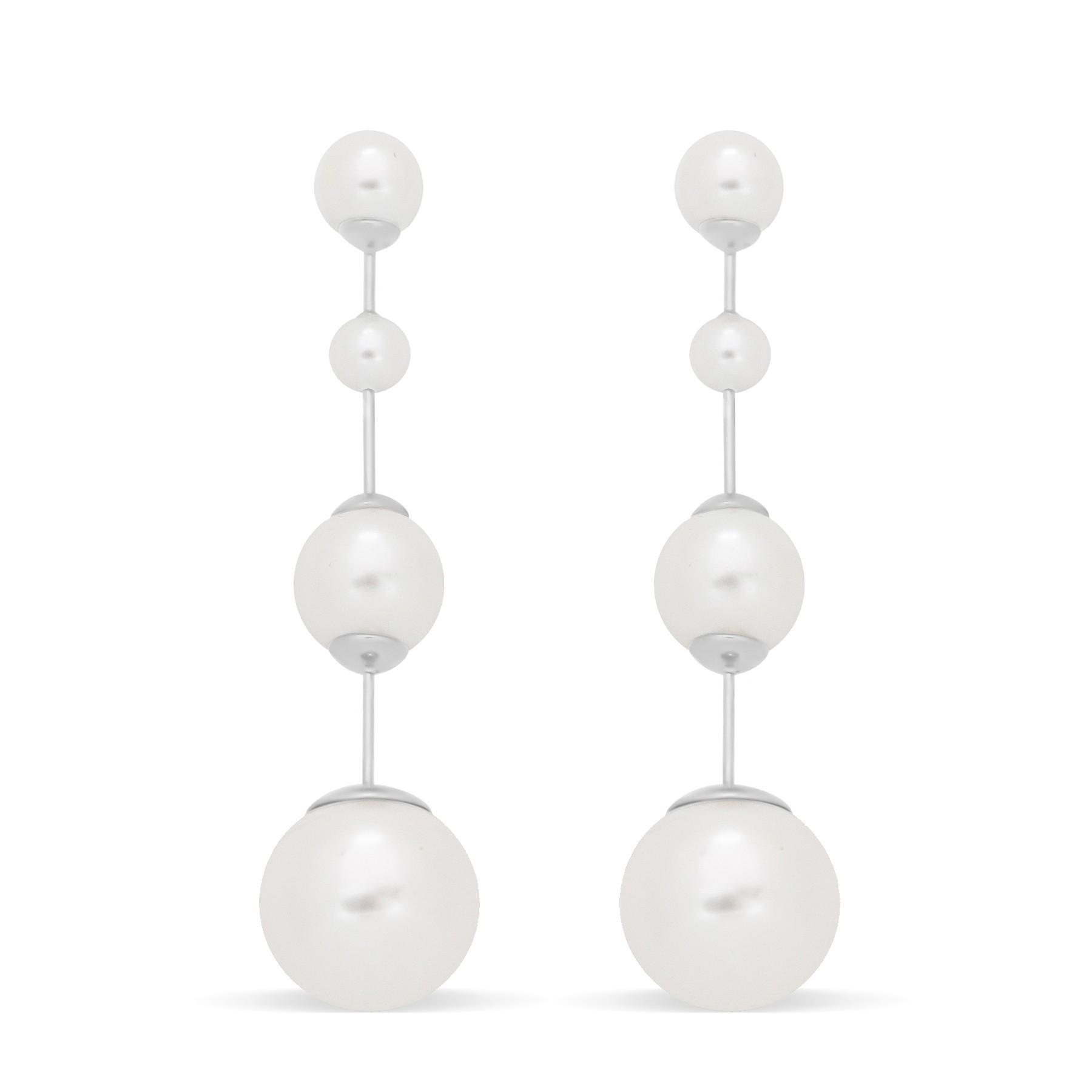 Boucles d'oreilles Cocktail avec perles, plaqué or