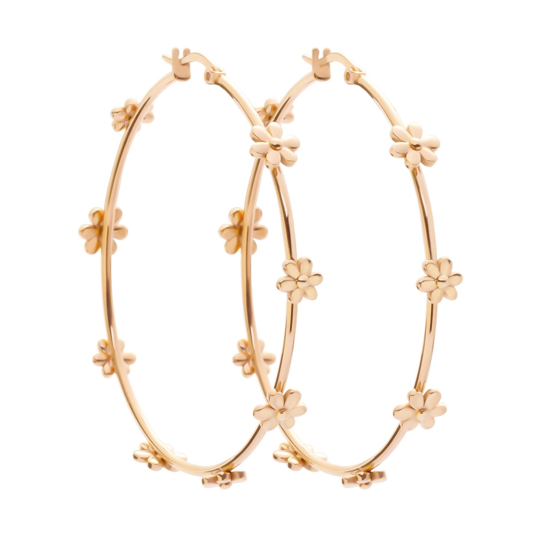 Boucles d'oreilles Flowers plaquées or