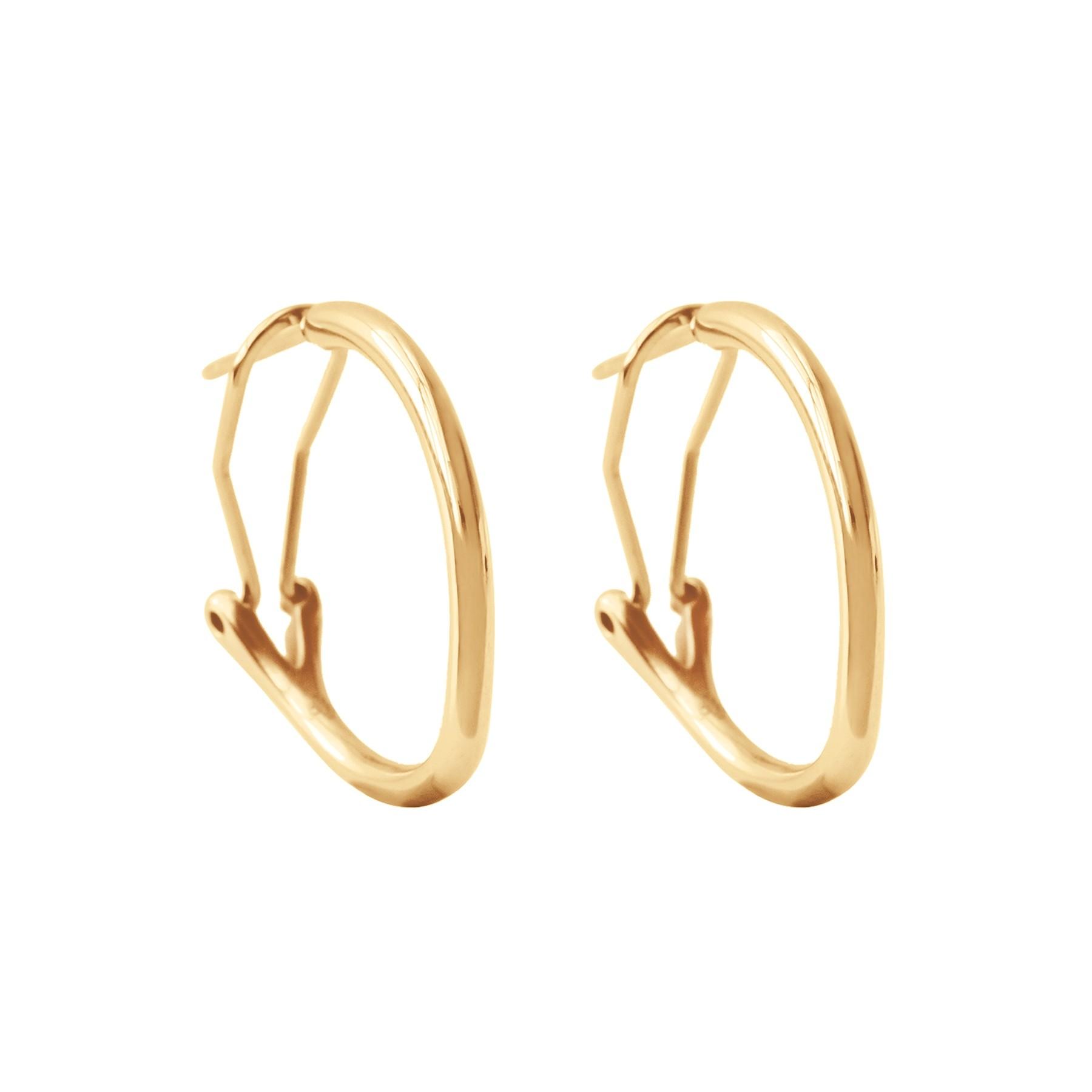 Boucles d'oreilles créoles 2 cm, plaqué or