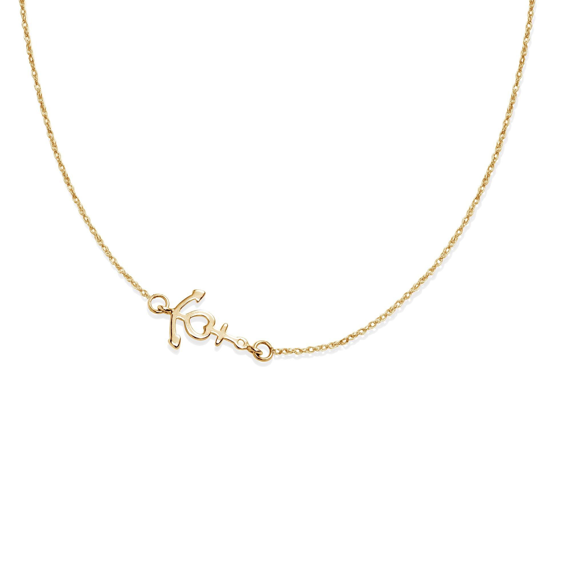 Collier chaîne avec une ancre plaquée or