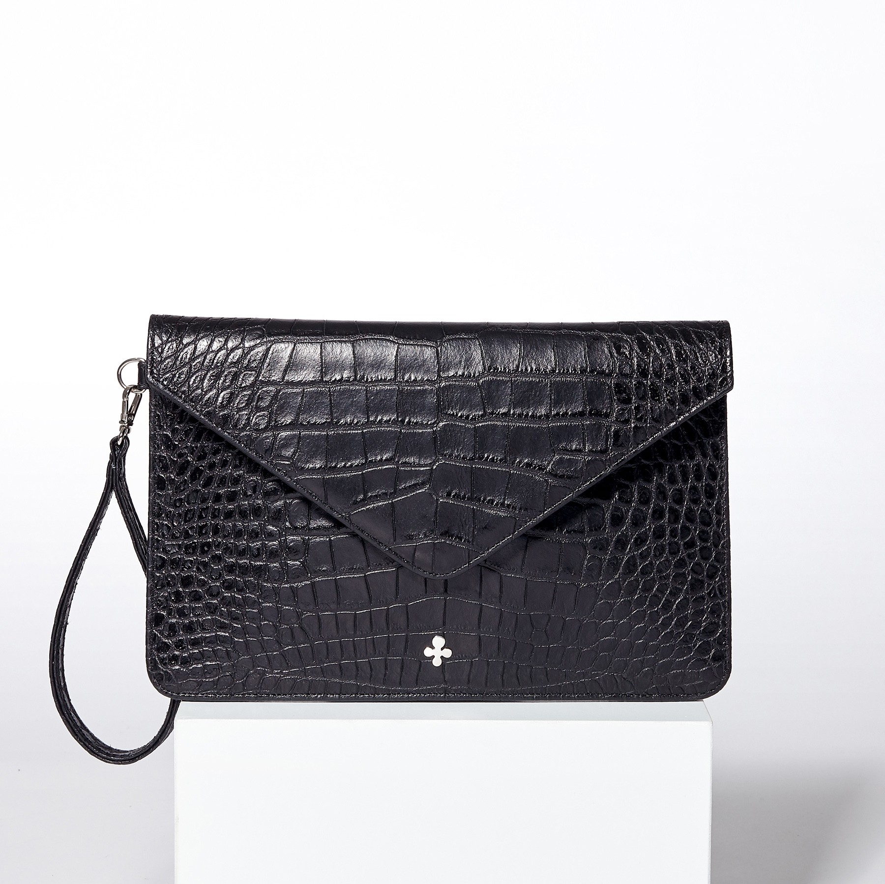 Pochette Juliet, crocodile noir