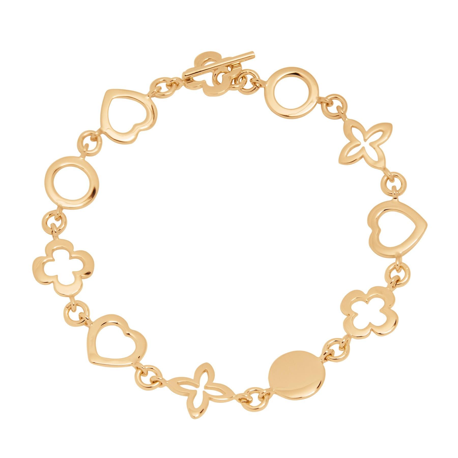 """Bracelet """"Les Trésors de Lilou"""" plaqué or"""