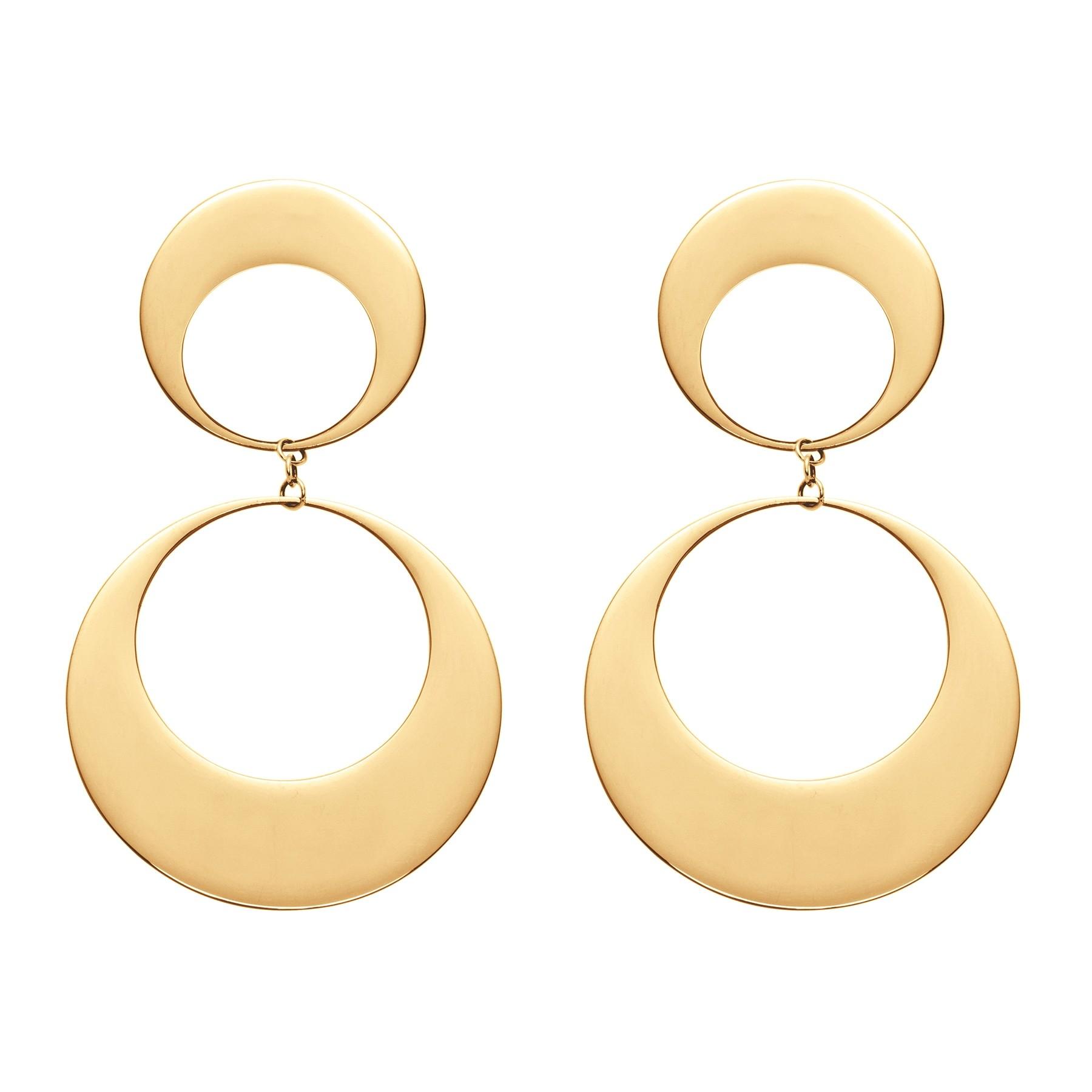 Boucles d'oreilles 2 éléments plaqués or