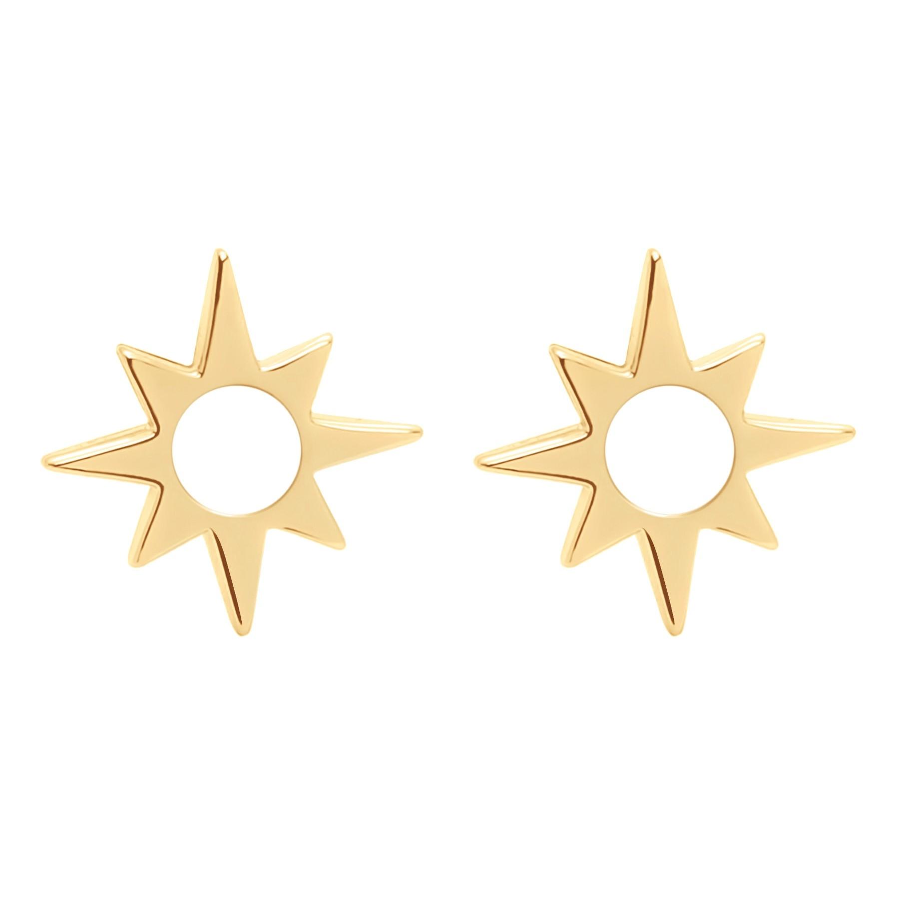 Boucles d'oreilles Star ajourées plaquées or