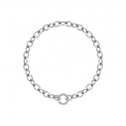 Bracelet chaîne No.1, plaqué argent