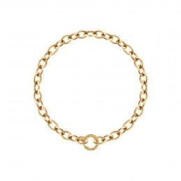 Bracelet chaîne No.1, plaqué or