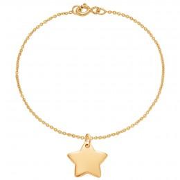 Bracelet avec étoile plaquée or sur une chaîne fine classique