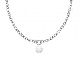 Collier chaîne No.1 avec médaillon argent 1,5 cm