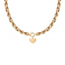 Collier chaîne No.2 avec coeur 1,5 cm