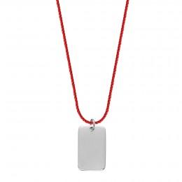 Collier Registre d'émotions en argent sur un cordon épais rouge premium