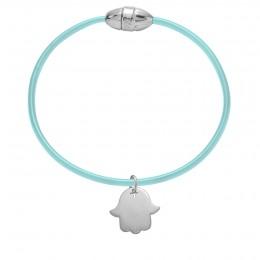 Bracelet simple Saint-Tropez avec main de Fatima en argent